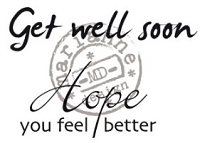 Marianne Design - Clear Stamp - Get Well Soon