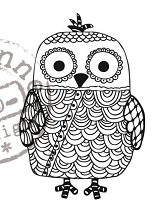 Marianne Design - Clear Stamp - Doodle Owl