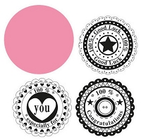 Marianne Collectables - Die and Clear Stamp Set - Circle Sentiments