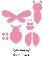 Marianne Collectables Die & Clear Stamp Set - Bee & Lady Bug