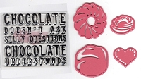 Marianne - Collectables Die - Chocolate Doesn't Ask (with clear stamp)