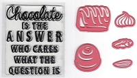 Marianne - Collectables Die - Chocolate Is The Answer (with Clear Stamp)