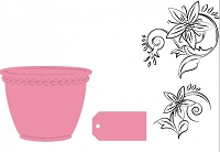 Marianne - Collectables Die and Clear Stamp Set - Flower Pot