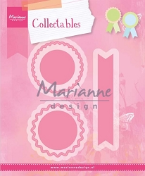 Marianne Design - Collectables Die - Rosettes & Labels