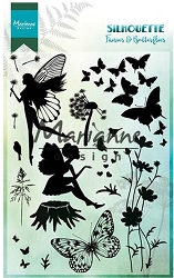 Marianne Design - Clear Stamp - Silhouette Fairies & Butterflies