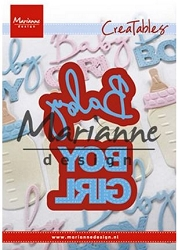 Marianne Design - Creatables Die - Baby Boy & Girl Text