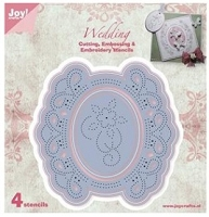 Joy Crafts - Die - Cutting & De-bossing - Circle Floral Frame 1
