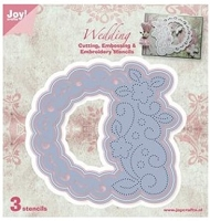 Joy Crafts - Die - Cutting & De-bossing - Circle Floral Frame 2