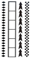 Marianne Design - Clear Stamp - Project NL - Arrows/Filmstrip/Checker/Diamond Borders