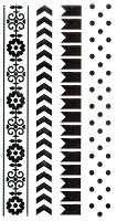 Marianne Design - Clear Stamp - Project NL - Banner/Dots/Chevron/Floral Borders