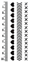 Marianne Design - Clear Stamp - Project NL - Ruler/Heart/Chevron/Xstitch Borders