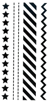 Marianne Design - Clear Stamp - Project NL - ZigZag/Diagonal/Stitch/Star Borders
