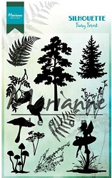Marianne Design - Clear Stamp - Silhouette Fairy Forest