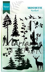 Marianne Design - Clear Stamp - Silhouette Woodland