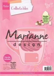 Marianne Design - Collectables Die - Hot Chocolate Mug + free Chocolate die set