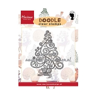 Marianne Design - Clear Stamp - Doodle Swirl Christmas Tree