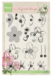 Marianne Design - Clear Stamp - Tiny's Layered Helleborus