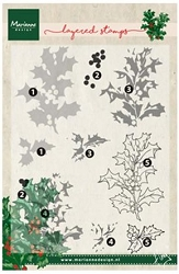 Marianne Design - Clear Stamp - Tiny's Layered Holly