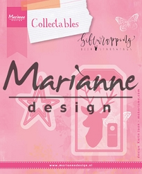Marianne Design - Collectables Die - Karin's Giftwrapping Deer, Stars & Tag