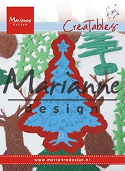 Marianne Design - Creatables Die - Tiny's Christmas Tree with Decorations