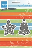 Marianne Design - Craftables Die - Tiny's Ornament Star & Bell