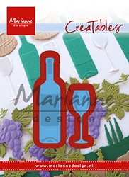 Marianne Design - Creatables Die - Tiny's Wine Bottle and Glass