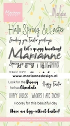 Marianne Design - Clear Stamp - Hello Spring & Easter