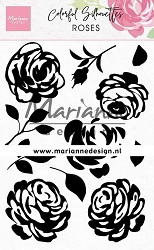 Marianne Design - Clear Stamp - Colorful Silhouettes Roses