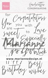 Marianne Design - Clear Stamp - Handwritten Congratulations