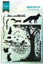 Marianne Design - Clear Stamp - Silhouette Forest Animals
