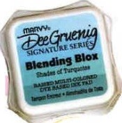 Marvy Posh Blending Blox Ink Pads - Shades of Turquoise