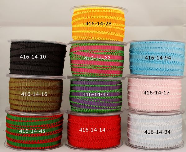 1/4 inch Grosgrain with Picot Edge