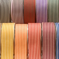 1.5 inch Grosgrain with horizontal stripe