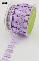 May Arts Ribbon- Satin Cut Outs - Lavender Tulips (per yard)