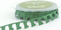 May Arts Ribbon- Satin Cut Outs - Green Stockings (per yard)
