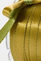 May Arts - 3/8 inch Reversible Satin - Olive/Gold (1 yard)