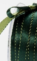 May Arts - 3/8 inch Reversible Satin - Green/Olive (1 yard)