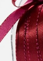 May Arts - 3/8 inch Reversible Satin - Burgundy/Fuchsia (1 yard)