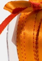 May Arts - 3/8 inch Reversible Satin - Red/Orange (1 yard)