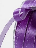 May Arts - 3/8 inch Reversible Satin - Purple/Lavender (1 yard)