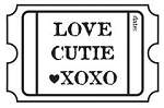 Maya Road Singleton Clear Stamps - Love Ticket
