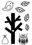 Maya Road Singleton Clear Stamps - Build A Tree