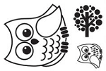 Maya Road Singleton Clear Stamps - Owl2