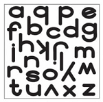 Maya Road Singleton Clear Stamps - Bethany Alphabet