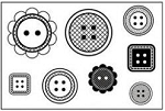 Maya Road Singleton Clear Stamps - Buttons