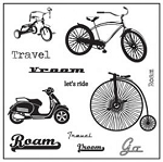 Maya Road Singleton Clear Stamp Set - Cycle-gy