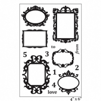 Maya Road - Clear Stamp -Ornate Frames Stamp Set