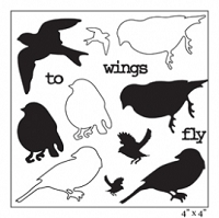 Maya Road - Clear Stamp -Wings to Fly Birds Stamp Set