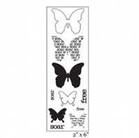 Maya Road - Clear Stamp -Soar Butterflies Stamp Strip