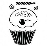 Maya Road Singleton Clear Stamps - Cupcake